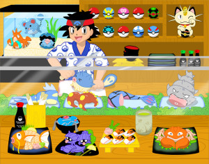 Pokemon_Sushi_Bar_by_Rosewine